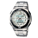 Deals For Casio Men S Analog Digital Silver Stainless Steel Band Watch Aq164Wd 7A Aq 164Wd 7A