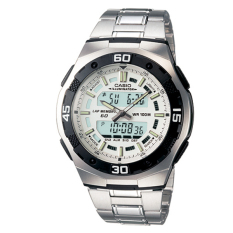 Buy Casio Men S Analog Digital Silver Stainless Steel Band Watch Aq164Wd 7A Aq 164Wd 7A Casio Original