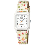 Price Casio Ladies Standard Analog Floral Design Leather Cloth Strap Watch Lq142Lb 7B Lq 142Lb 7B Casio Original