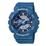 Casio Baby G Ba110 Series Denim Collection Ladies Watch Ba110Dc 2A2 Ba 110Dc 2A2 On Singapore