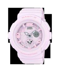Casio Baby-G Beach Traveler Matte One-tone Series Pastel Pink Resin Band Watch