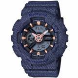Casio Baby G New Denim D Color Special Color Models Dark Blue Resin Band Watch Ba110De 2A1 Deal