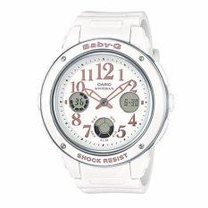Sale Casio Baby G Popular Wide Face White Resin Band Watch Bga150Ef 7B Bga 150Ef 7B Casio Baby G Wholesaler