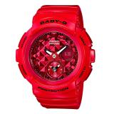 Casio Baby G Round Series Red Resin Band Watch Bga195M 4A Bga 195M 4A Casio Baby G Cheap On Singapore