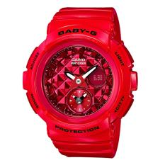 Casio Baby G Round Series Red Resin Band Watch Bga195M 4A Bga 195M 4A Deal