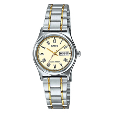 Sale Casio Ladies Standard Analog Two Tone Stainless Steel Band Watch Ltpv006Sg 9B Ltp V006Sg 9B Casio Online