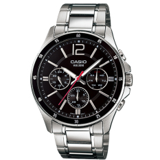 Casio Classic Series Men S Silver Stainless Steel Strap Watch Mtp1374D 1A On Singapore