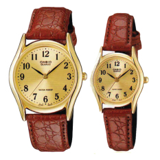 Casio Couple Leather Watch Ltp1094Q 9B Mtp1094Q 9B Best Buy