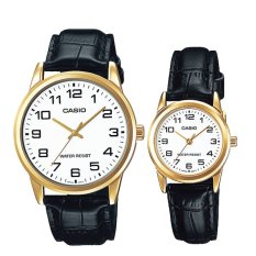 [best] Casio Couple Leather Watch Ltpv001gl-7b Mtpv001gl-7b By Watchspree.