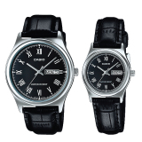 Get The Best Price For Casio Couple Leather Watch Ltpv006L 1B Mtpv006L 1B