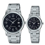 Shop For Casio Couple Stainless Steel Watch Ltpv002D 1B Mtpv002D 1B