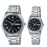 Compare Casio Couple Stainless Steel Watch Ltpv006D 1B Mtpv006D 1B