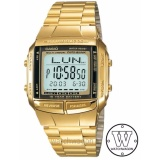 Sale Casio Data Bank Gold Tone Stainless Steel Unisex Watch Db360G 9A Free Casio Box On Singapore