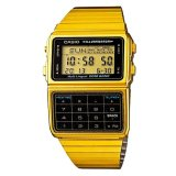 Buy Casio Data Bank Multi Lingual Men S Gold Tone Stainless Steel Strap Watch Dbc 611G 1Df Casio