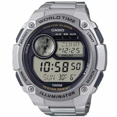Low Cost Casio Digital Prayer Alarm Stainless Steel Band Watch Cpa100D 1A