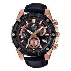 Casio Edifice Chronograph Black Genuine Leather Band Watch EFR559BGL-1A EFR-559BGL-1A