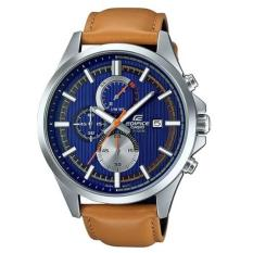 Discount Casio Edifice Efv 520L 2A Leather Strap Analog Chronograph Men S Watch Casio