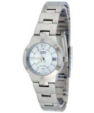 Casio Enticer Analog Quartz Women S Silver Tone Stainless Steel Strap Watch Ltp 1241D 2Adf For Sale