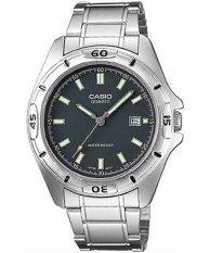 Price Casio Enticer Quartz Analog Men S Silver Tone Stainless Steel Strap Watch Mtp 1244D 8Adf Casio Original
