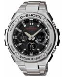 Discount Casio G Shock G Steel Analog Digital World Time Men S Silver Tone Stainless Steel Strap Watch Gst S110D 1A Casio G Shock On Singapore