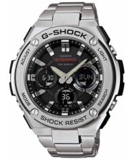 Casio G Shock G Steel Analog Digital World Time Men S Silver Tone Stainless Steel Strap Watch Gst S110D 1A Singapore