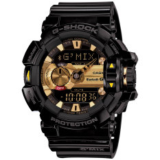 Great Deal Casio G Shock Gba400 1A9 Black And Gold Bluetooth Music Men S Watch
