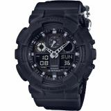 How To Buy Casio G Shock Men S Watch Military Theme Cloth Band Black Ga 100Bbn 1A Gift For Men Intl