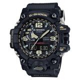 Retail Casio G Shock Mudmaster New Mud Resistance Triple Sensor Black Resin Strap Watch Gwg1000 1A