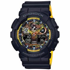 Sale Casio G Shock Special Color Model Sporty Mix Design Theme Black Watch Ga100By 1A Singapore