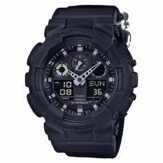 Casio G Shock Special Color Models Black Cordura® Nylon Strap Watch Ga100Bbn 1A For Sale
