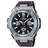 Buy Casio Gshock Gsteel Tough Solar Watch In Dark Brown Leather Strap Gsts130L 1Adr Casio G Shock Online