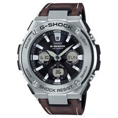 Casio Gshock Gsteel Tough Solar Watch In Dark Brown Leather Strap Gsts130L 1Adr Casio G Shock Discount