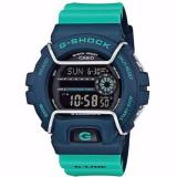 Casio Gshock Latest Winter Collection In Dark Blue Case Green Strap With Screen Protector Gls6900 2Adr Sale