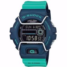 Price Casio Gshock Latest Winter Collection In Dark Blue Case Green Strap With Screen Protector Gls6900 2Adr Casio G Shock New