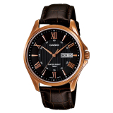 Price Casio Men S Standard Analog Brown Leather Strap Watch Mtp1384L 1A Mtp 1384L 1A Online Singapore