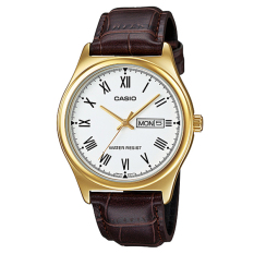 Price Comparisons For Casio Men S Standard Analog Brown Leather Strap Watch Mtpv006Gl 7B Mtp V006Gl 7B