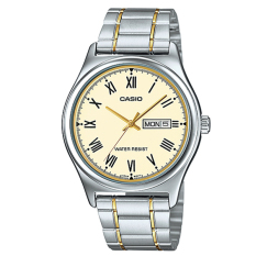 Review Casio Men S Standard Analog Two Tone Stainless Steel Band Watch Mtpv006Sg 9B Mtp V006Sg 9B Casio On Singapore