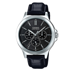 Casio Men S Standard Analog Black Leather Strap Watch Mtpv300L 1A Mtp V300L 1A Price Comparison