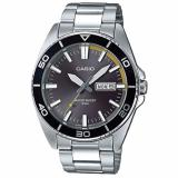 Best Buy Casio Men S Standard Analog Silver Stainless Steel Band Watch Mtd120D 8A