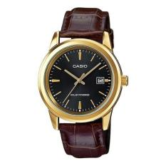 Price Casio Mtp Vs01Gl 1A Leather Band Analog Men S Watch Singapore