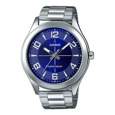 Discount Casio Mtp Vx01D 2B Stainless Steel Blue Dial Analog Men S Casual Numeral Watch Singapore