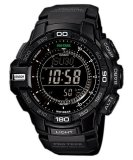 Casio Protrek Triple Sensor Tough Solar Men S Black Resin Strap Watch Prg 270 1A Reviews