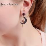 Purchase Female Enamel Owl Moon Stud Earring