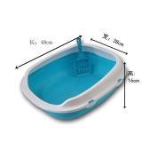 Raised Double Layer Large Semi Enclosed Potty Litter Box For Sale