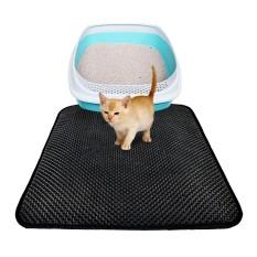 Best Cat Litter Trapper Litter Mat Clean Cat Mat With Water Proof Layer Black Intl