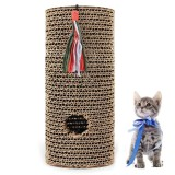 Sale Cat Scratcher Corrugated Cardboard Cat Scratching Post Cat Scratch Toy With Bell For Cats Kittens (Brown) Intl Oem Branded