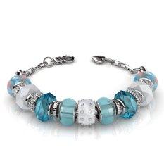 Low Price Charm Bracelet Blue Crystals From Swarovski®