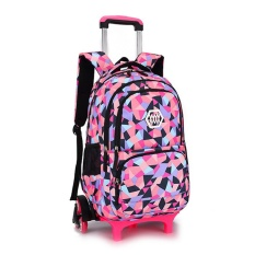3f3ea3a764 Chic Girls Boys Children Trolley Backpack with 6 Wheels Kids Wheeled School  Bag Black - intl