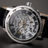 Classic Men Black Leather Dial Skeleton Mechanical Sport Fashion Wrist Watch Pmw001 Intl Reviews
