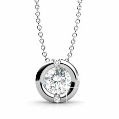 Sale Classic Pendant White Gold Zirconia From Swarovski® Her Jewellery Cheap